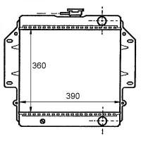 Radiateur, refroidissement du moteur 358 x 390 pour boite manuelle de 84 à 88 - OEM : 17700C83001