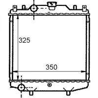 Radiateur, refroidissement du moteur 325 x 348 de 94 à 02 - OEM : 1770078B10