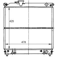 Radiateur, refroidissement du moteur 425 x 490 x 34 pour boite manuelle de 95 à 97 - OEM : 1770086C01
