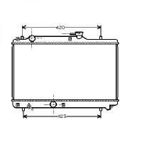 Radiateur, refroidissement du moteur 350 x 525 x 16 pour boite manuelle de 95 à >> - OEM : 1770060G01