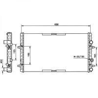 Radiateur, refroidissement du moteur 647 x 377 de 99 à >> - OEM : 6K0121253BC