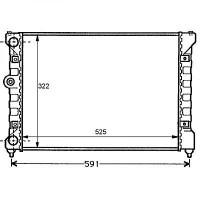Radiateur, refroidissement du moteur 525 x 322 de 93 à 99 - OEM : 6K0121253P