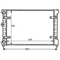 Radiateur, refroidissement du moteur 525 x 322 de 95 à 99 - OEM : 6K0121253P