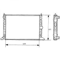 Radiateur, refroidissement du moteur 645 x 377 pour boite manuelle de 95 à 00 - OEM : 95VW8005CA