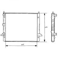 Radiateur, refroidissement du moteur 645 x 470 x 34 [mm] Ø admission [mm]: 32 de 95 à 00 - OEM : 97VW8005AA