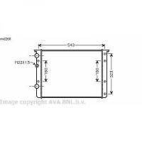 Radiateur, refroidissement du moteur 508 x 379 x 32 de 99 à 05 - OEM : 6N0121253AK