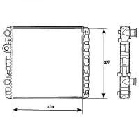 Radiateur, refroidissement du moteur 430 x 377 pour boite manuelle de 97 à >> - OEM : 6N0121253K