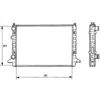 Radiateur, refroidissement du moteur 720 x 377 de 93 à 97 - OEM : 3A0121253AB
