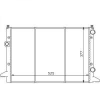 Radiateur, refroidissement du moteur 525 x 377 pour modèles sans clim de 93 à 97 - OEM : 3A0121253AA