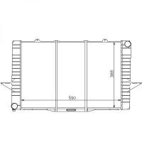 Radiateur, refroidissement du moteur 590 x 388 pour boite manuelle de 96 à 98 - OEM : 9186484