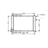 Radiateur, refroidissement du moteur 520 x 420 de 95 à >> - OEM : GRD925