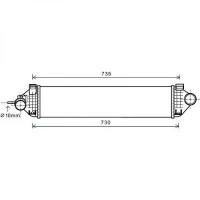 Intercooler, échangeur de 2011 à >> - OEM : 1721228