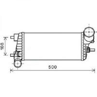 Intercooler, échangeur de 2011 à >> - OEM : 1712541