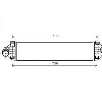 Intercooler, échangeur de 2010 à >> - OEM : 1712541