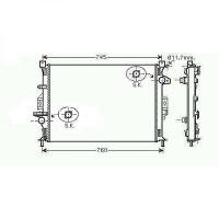 Radiateur, refroidissement du moteur 670 x 470 pour boite manuelle de 07 à >> - OEM : LR006715