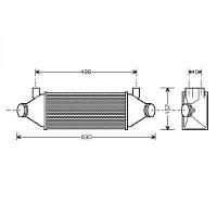 Intercooler, échangeur Mode de traction: 2 00->> pour 2 roues motrices