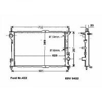 Radiateur, refroidissement du moteur 620 x 390 x 23 pour boite manuelle de 02 à 13 - OEM : 4367092