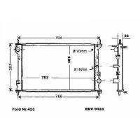 Radiateur, refroidissement du moteur 700 x 390 x 23 pour boite manuelle de 02 à 13 - OEM : 4T168B273FA