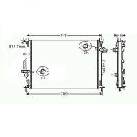 Radiateur, refroidissement du moteur 670 x 470 pour boite manuel de 06 à >> - OEM : LR006714