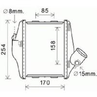 Intercooler, échangeur 170-234-50 de 07 à 14 - OEM : A4515010401