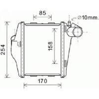 Intercooler, échangeur 170-234-50 de 07 à 14 - OEM : A4515010301