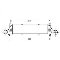 Intercooler, échangeur de 96 à 04 - OEM : A1705000400