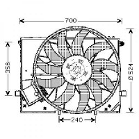 Ventilateur refroidissement du moteur 11 lames de 98 à 05 - OEM : 2205000193