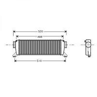 Intercooler, échangeur de 96 à >> - OEM : A1685000000