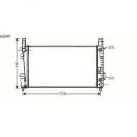 Radiateur, refroidissement du moteur 648 x 406 x 26 pour boite auto de 04 à 08 - OEM : A1695001803