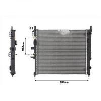 Radiateur, refroidissement du moteur 609 x 555 de 99 à >> - OEM : A1635000103