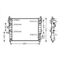 Radiateur, refroidissement du moteur 610 x 545 de 97 à >> - OEM : 1635002204