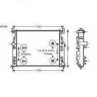Radiateur, refroidissement du moteur 635 x 530 de 05 à >> - OEM : 2515000303