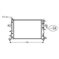 Radiateur, refroidissement du moteur 600 x 370 x 14 de 04 à >> - OEM : 13145210
