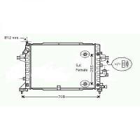 Radiateur, refroidissement du moteur 600 x 370 x 28 de 04 à >> - OEM : 13184736