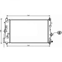 Radiateur, refroidissement du moteur 680 x 395 x 28 de 09 à >> - OEM : 13267662