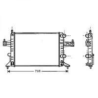 Radiateur, refroidissement du moteur boite manuelle de 00 à >> - OEM : 9201955