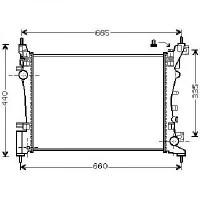 Radiateur, refroidissement du moteur 570 x 375 x 26 boite manuel de 2010 à >> - OEM : 13249566