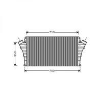 Intercooler, échangeur boite manuelle de 02 à >> - OEM : 24418366