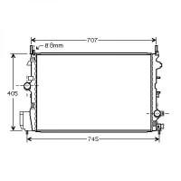 Radiateur, refroidissement du moteur 650 x 415 pour boite manuel de 04 à >> - OEM : 51775637