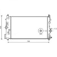 Radiateur, refroidissement du moteur 680 x 395 x 28 de 2011 à >> - OEM : 1300326