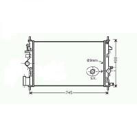 Radiateur, refroidissement du moteur 680 x 400 x 16 pour boite manuel de 08 à >> - OEM : 13241726