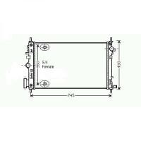 Radiateur, refroidissement du moteur 680 x 400 x 16 pour boite auto de 08 à >> - OEM : 13241729