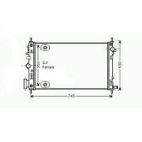 Radiateur, refroidissement du moteur 680 x 400 x 27 pour boite auto de 08 à >> - OEM : 13241722