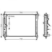 Radiateur, refroidissement du moteur 670 x 510 x 27 de 06 à >> - OEM : 96629057
