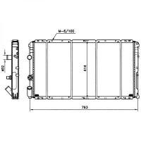 Radiateur, refroidissement du moteur 730 x 390 de 98 à 03 - OEM : 9161437