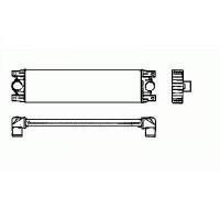 Intercooler, échangeur Largeur [mm]: 680 de 99 à >> - OEM : 7701043695