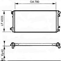 Radiateur, refroidissement du moteur Ø admission [mm]: 32 de 06 à >> - OEM : 7701066109