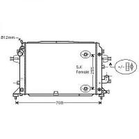 Radiateur, refroidissement du moteur 600-410-28 de 05 à >> - OEM : 13171432
