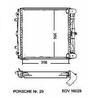 Radiateur, refroidissement du moteur 336 x 358 x 34 droit de 96 à >> - OEM : 99610613251