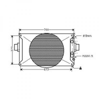Radiateur, refroidissement du moteur 641 x 488 de 96 à 99 - OEM : 93825378
